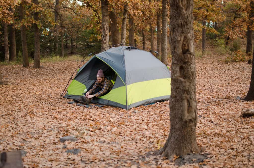 On-Site Tent Use to Minimize Damage