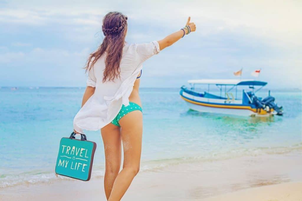 skyways luggage woman