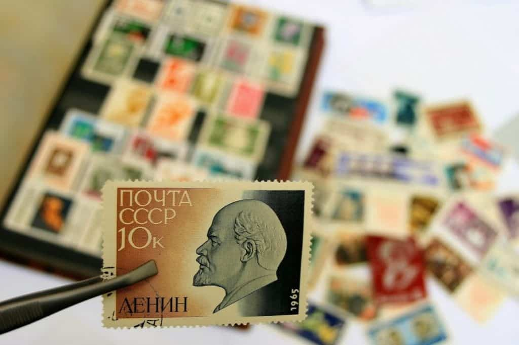 The World's Most Famous Faces with a Stamp Collection Book