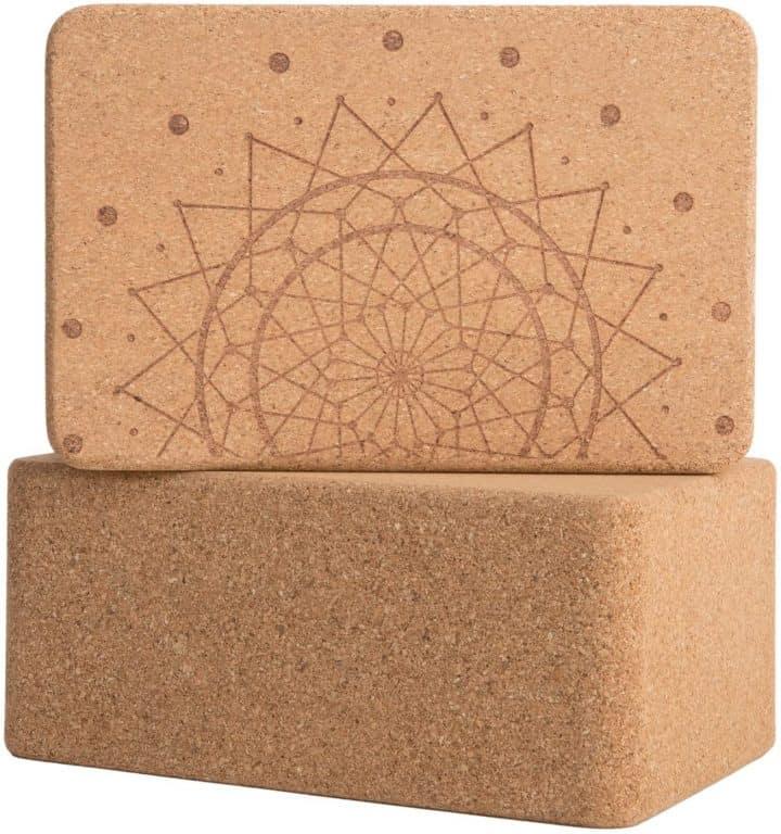 Peace Yoga Cork Block
