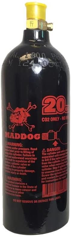 Maddog 20 Oz Refillable Aluminum CO2 Paintball Tank