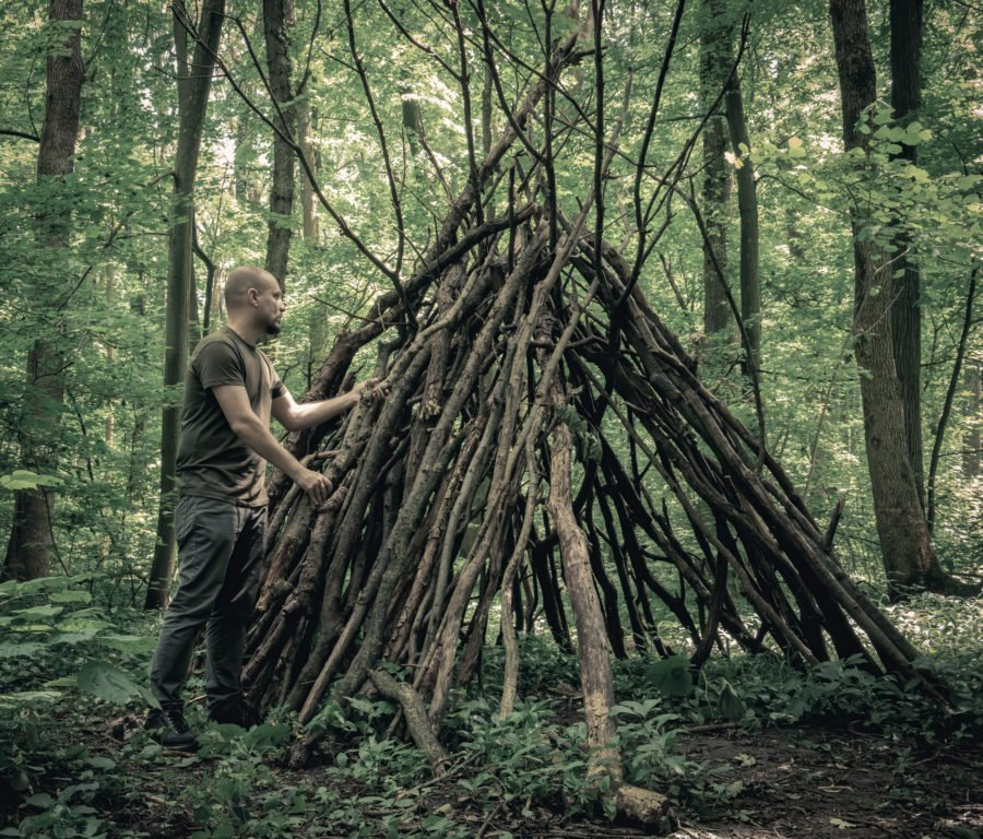 How do you build a shelter without tools