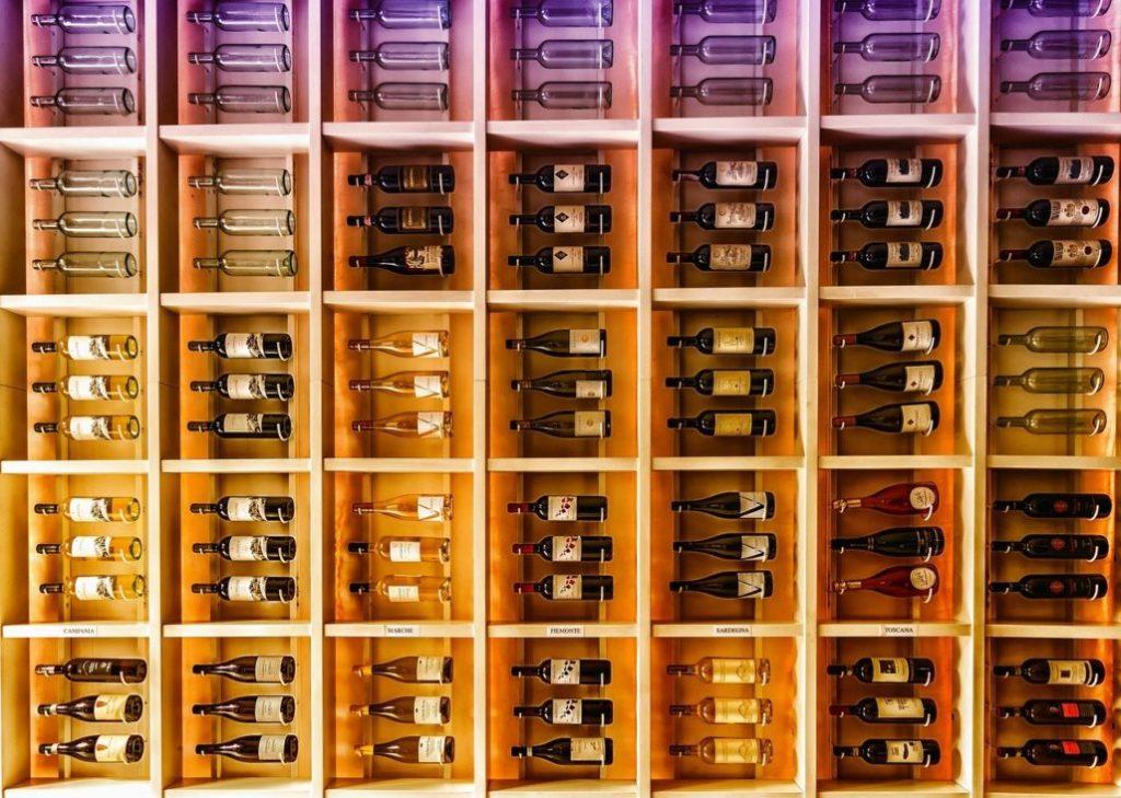 Hard-Wood Wine Shelving