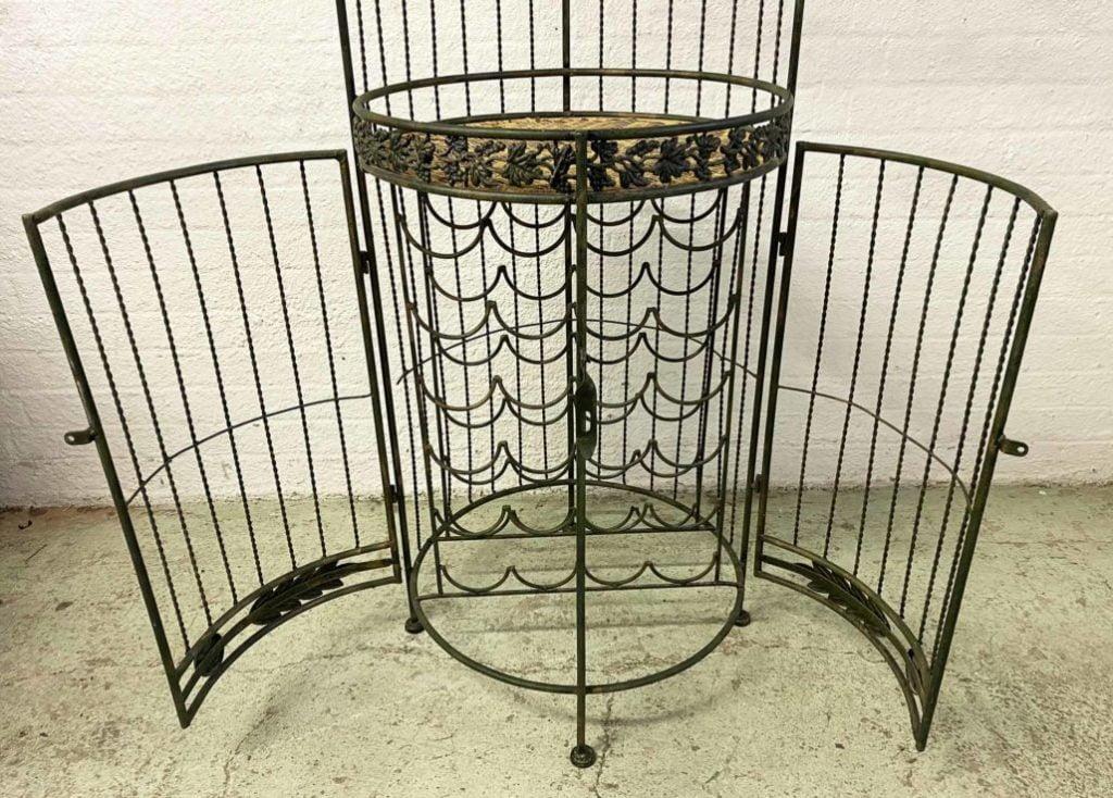 Metal Cage Wine Rack